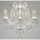 Found it at Wayfair Supply - Maria Theresa 6 Light Crystal Chandelier