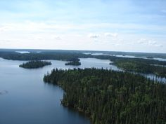 The gorgeous view on your way to Northern Nights Outfitters - Waskwei Lake, #Saskatchewan