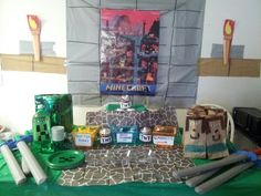 My sons Minecraft Party