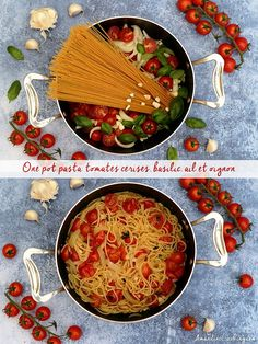 One pot pasta {tomate cerise, basilic, ail, oignon} Amandine Cooking - One pot rezepte One Pan Pasta, Pot Pasta, Beef Lo Mein Recipe, Cheesy Potatoes With Hashbrowns, Pasta Tomate, Sweet Potato Hash Browns, Funeral Potatoes, Couscous Recipes, Noodles