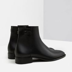 Image 3 of SMART LEATHER ANKLE BOOTS from Zara