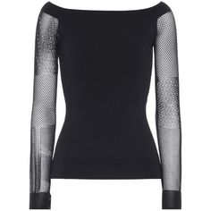 Roland Mouret Leafield Long-Sleeved Top ($895) ❤ liked on Polyvore featuring tops, black, roland mouret top, long sleeve tops and roland mouret