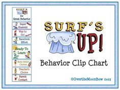 This fun, surf themed behavior chart fits in well with the 'green–yellow–red' behavior system used in many schools, yet provides positive recognition for students who go above  beyond. Perfect for your themed classroom.