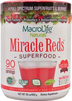 Macro Life Naturals Miracle Reds Superfood Berry -- 30 oz - Vitacost