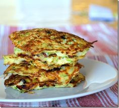 Bacon and Green Onion Zucchini Pancakes - low carb