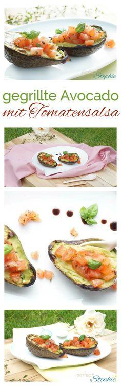 Vegetarisch grillen: Gegrillte Avocado mit Tomatensalsa Bread Crumbs, Air Fryer Recipes, Bbq, Food And Drink, Menu, Mexican, Snacks, Ethnic Recipes, Food Blogs