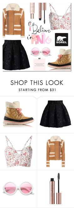 """""""Kick Up the Leaves (Stylishly) With SOREL: CONTEST ENTRY"""" by asiyaoves ❤ liked on Polyvore featuring SOREL, Chicwish, Etro, Carven, ZeroUV, Show Beauty, polyvoreeditorial and sorelstyle"""
