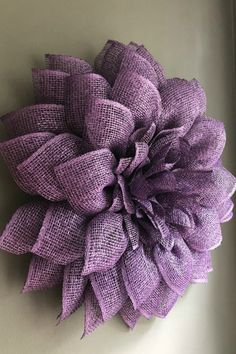 2018 August Wreath Creations from the Trendy Tree Custom Designer List Share a purple flower made by Dean Michael Designs. It is available in every Etsy shop. August Wreath Creations 2018 from Trendy Tree Burlap Crafts, Wreath Crafts, Diy Wreath, Diy Crafts, Burlap Wreath Tutorial, Wreath Fall, Felt Wreath, Pumpkin Wreath, Wreath Ideas