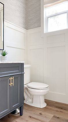 Our Powder Room is Complete - A Thoughtful Place Upstairs Bathrooms, Downstairs Bathroom, Bathroom Renos, Bathroom Interior, Washroom, Bathroom Ideas, Small Bathroom Paint, Bathroom Remodelling, Condo Bathroom