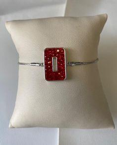 "Ohio State ""Block O"" Bolo B... Gemstone Bracelets, Fashion Bracelets, Ohio, Brass, Gemstones, Jewels, Diamond, Stylish, Accessories"