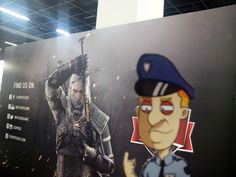 Good luck trying to arrest Geralt, cop...