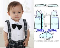 Free shirt template for kids Baby Dress Patterns, Baby Clothes Patterns, Sewing Patterns For Kids, Sewing For Kids, Baby Sewing, Baby Boy Outfits, Kids Outfits, Sewing School, Baby Kind
