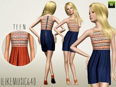 Half Sweater Dress for Teen by Ilikemusic640  http://www.thesimsresource.com/downloads/1167313