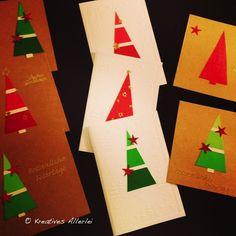 Hier zeige ich euch, wie ihr aus kostenlosen Materialien aus dem Baumarkt ganz tolle Weihnachtskarten basteln könnt.
