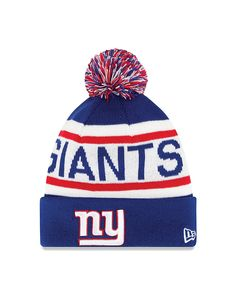 1ec06ac28 New Era New York Giants Royal Blue Biggest Fan Redux Knit Beanie