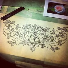 with something else in the center. those roses are perfect.