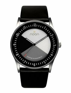 noon copenhagen Men's 43-001L1 Watch noon copenhagen. $155.00. Round face; Black leather band. High torque japanese movement. Water-resistant to 165 feet (50 M). Water resistant to 50 meters. Signature spinning disc face
