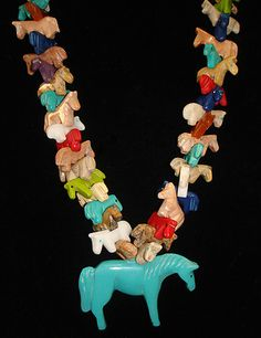 All Horse Multicolored Fetish Necklace  