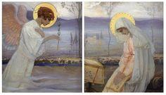 The Annunciation by M.V. Nesterov
