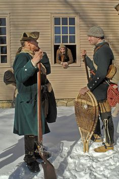 Captain John Harmon's snowshoe company of Rangers. American Indian Wars, American History, Rangers, Seven Years' War, 18th Century Clothing, American Revolutionary War, American Frontier, Colonial America, Native Style
