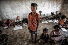 Poor School / In India, Orissa. I visited a poor school in a mountain village. The school had only one room for 5 classes...by Masashi Mitsui on 500px