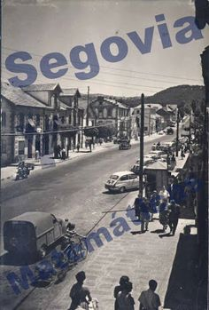 Travesía de San Rafael. Principio de los años 60 San Rafael, Street View, Antique Photos