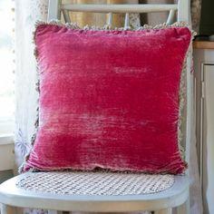 Velvet Cushion Square Rose