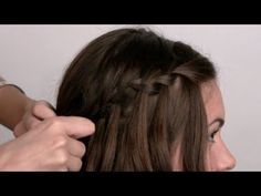 Step by step on how to waterfall braid your hair. ;D