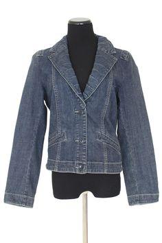 CAbi 860 Lucy Blue Denim Jean Jacket Size M