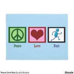 Peace Love Run Doormat for a runner