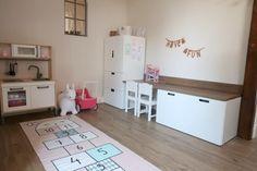 Home Bedroom, Girls Bedroom, Bedroom Decor, Interior Design Living Room, Living Room Decor, Ikea Stuva, Kids Corner, Play Corner, Home Living