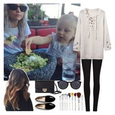 """""""taking baby Lux out to eat at her fav.Mexican restaurant w/Lou"""" by nblankenship ❤ liked on Polyvore featuring Winser London, Jimmy Choo and Yves Saint Laurent"""