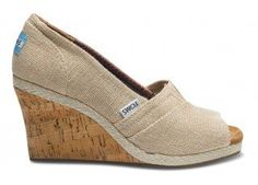 Great for outdoor wedding for bride and bridesmaids, Tom's wedges