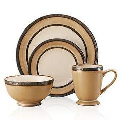 Set your table with a casual but attractive set of dishes with the ...