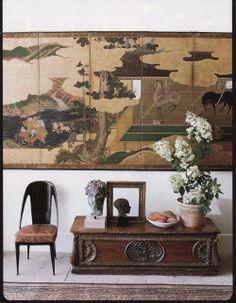 Interior Decorating - Antique Japanese Screen