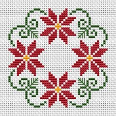 styled Christmas wreath cross stitch patter with three colors: green Beautiful styled Christmas wreath cross stitch patter with three colors: green, . -Beautiful styled Christmas wreath cross stitch patter with three colors: green, . Biscornu Cross Stitch, Cross Stitch Borders, Cross Stitch Flowers, Cross Stitch Designs, Cross Stitching, Cross Stitch Embroidery, Cross Stitch Patterns Free Easy, Hand Embroidery, Embroidery Ideas