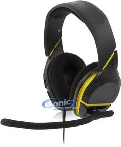 Skullcandy PLYR 2 with Mic Wireless Gaming Headphone - Black/Yellow / One Size Gaming Headphones, Gaming Headset, Gaming Accessories, Surround Sound, Cool Gadgets, Black N Yellow, Games, Simple, Gaming
