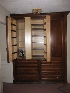 another shot of the former bifold closet, which is now a pantry.