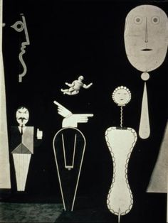 Oskar Schlemmer--the Figural Cabinet--2nd version. Bauhaus. German. 1922