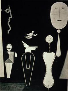 Oskar Schlemmer--the Figural Cabinet--2nd version. Bauhaus. German. 1922