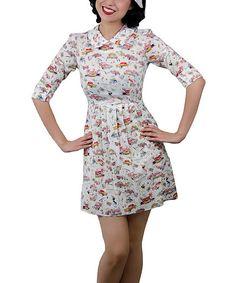 Tatyana Off-White Speedway Dress