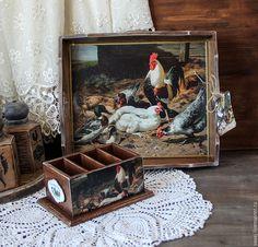 """Купить Подставка для пультов и мобильных телефонов """" Птичий двор"""" - подставка для пультов, органайзер для пультлв"""