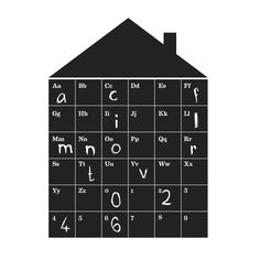 Wallsticker - Abc house