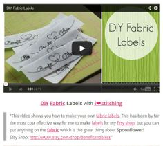 Awesome DIY Fabric Labels with iheartstitching ❤