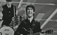 1964 - Ringo Starr and George Harrison.