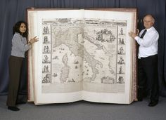 The 1660 Klencke Atlas at the British Library is taller than most people, and now digitized its rare maps are easily accessible online.