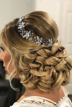 Bridal Hairstyles : 30 Perfect Bridal Hairstyles For Big Day Party bridal hairstyles low updo wi