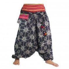 Pantalón babucha Aladino con diseño tribal