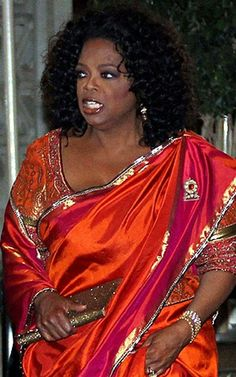 Oprah Winfrey-love the colorful dress