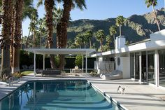 Palm Springs midcentury home by Charles Dubois asks $1.9M - Curbedclockmenumore-arrownoyes : Featuring wallpaper by its seller, Don Flood